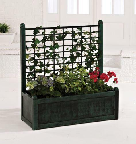 Trellis Planter Garden Patio Ebay