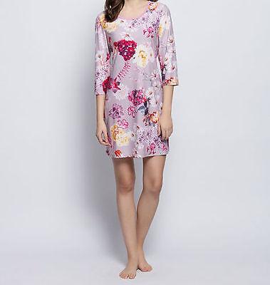 Nachthemd - Gr. 36 38 40 42 44 46 - rosa/bunt - Blütendruck - Bigshirt - Pyjama ()