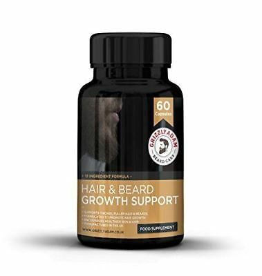 GRIZZLY ADAM Hair and Beard Growth Supplement - Vitamins For a Bigger Better (Best Beard Growth Supplements)