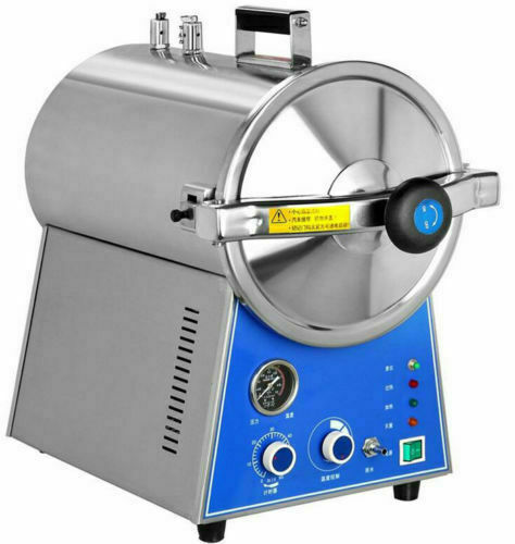 Dental 24L Medical High Pressure Steam Autoclave Sterilizer Stainless Steel