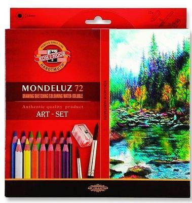 Mondeluz Aquarell Watercolor Pencils 72 colors KOH-I-NOOR 3714 SUPER PRICE