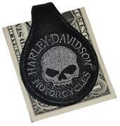 Harley Davidson Leather Money Clip