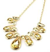 Yellow Rhinestone Necklace