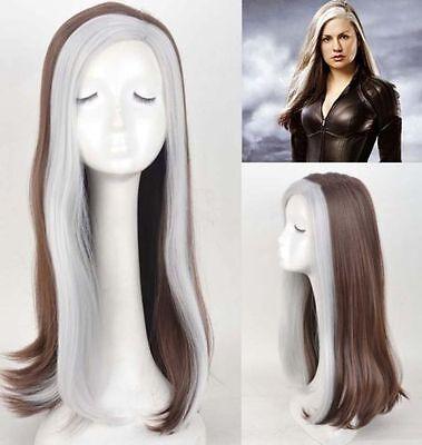 X-Men-Rogue-Wig-Mix-Color-long-Anime-Wig-Cosplay-Wig-Heat-Resistant-for-women : (X Men Rogue Wig)
