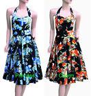 Halter Floral Dresses Midi