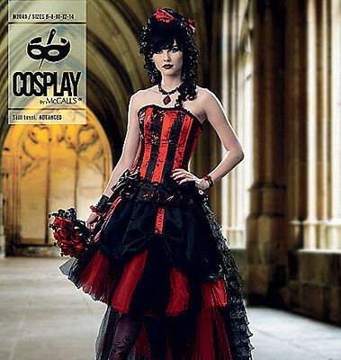 McCALLS Sewing Pattern 2049 COSPLAY 'BELLE ROGUE' Corset Skirt NEW Misses 6-14 (Rogue Corset)