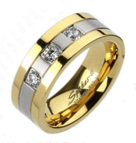 mens gold titanium wedding bands ebay