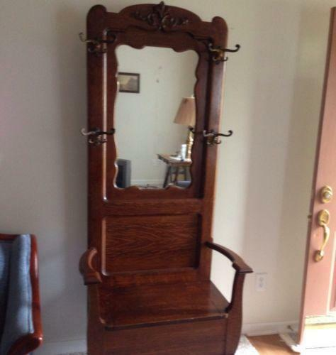 Antique Furniture Hall Tree Ebay
