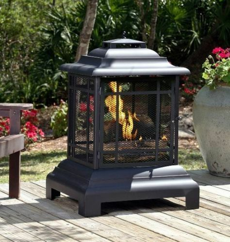 Chiminea Outdoor Fireplace Modern Fire Pit Patio Portable Backyard Wood  Burning  Portable Outdoor Fireplace