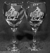 Etched Horse Glass