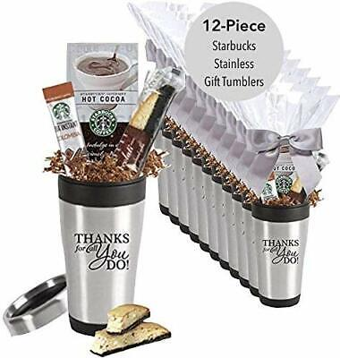 Employee Appreciation Gifts (12 Piece Set -Starbucks Gift Tumbler/Holiday Employee Appreciation)