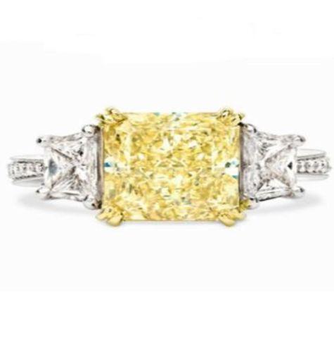 canary diamond engagement rings ebay. Black Bedroom Furniture Sets. Home Design Ideas