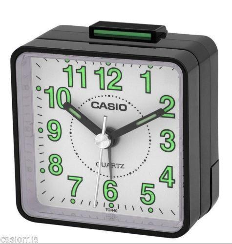 Casio TQ140-1B Travel Desk Quartz Alarm Clock-Black
