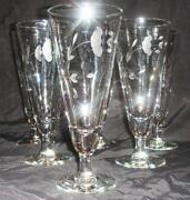 Etched Pilsner Glasses