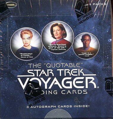 2012 RITTENHOUSE STAR TREK VOYAGER THE QUOTABLE SEALED BOX 3 AUTOGRAPHS