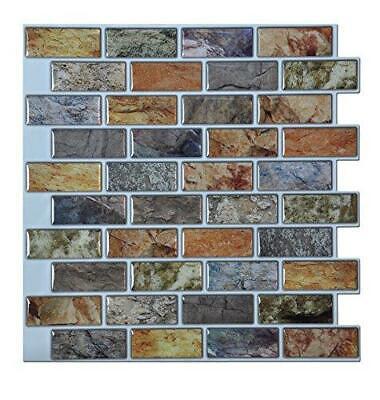 Art3d Peel and Stick Bathroom/Kitchen Backsplash Tiles, 6 Tiles