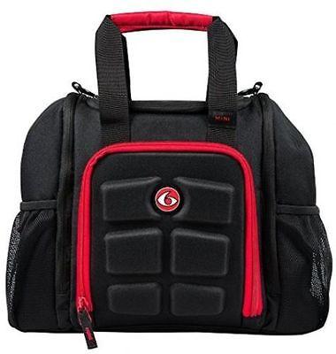 6 Pack Fitness Innovator Mini Black/Red Meal Management Bag