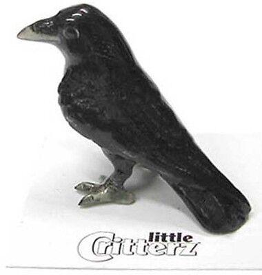 ➸ LITTLE CRITTERZ Bird Miniature Figurine Raven Trickster