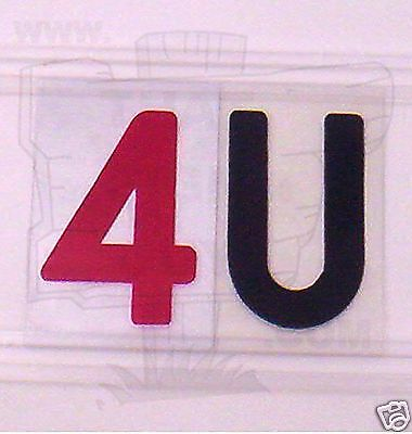 8 On 10 .030 Plastic Flex Change Sign Letters Arrow Readerboard Marquee