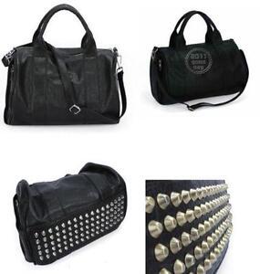 44fa9f4cd8c Black Studded Bag | Women's Handbags | eBay