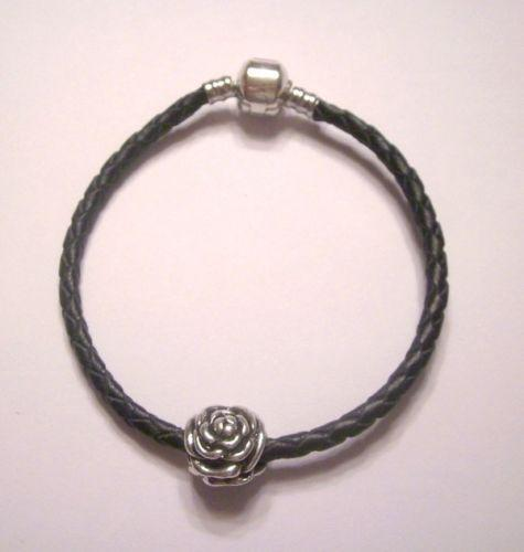 Leather Bracelet With Charms: Pandora Leather Charm Bracelet