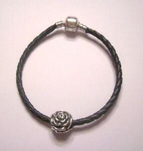 Leather Pandora Bracelet With Charms