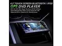 """XTRONS D4303G 4.3"""" BlueTooth DVD Player TV Touch Screen USB"""