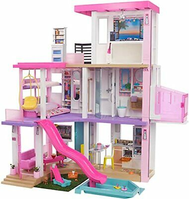 Barbie Dreamhouse (3.75-ft) 3-Story Dollhouse Playset with Pool & Slide, Party R