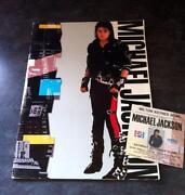 Michael Jackson Tour Programme
