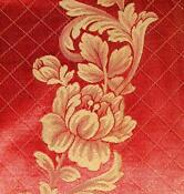 Red Jacquard Upholstery Fabric