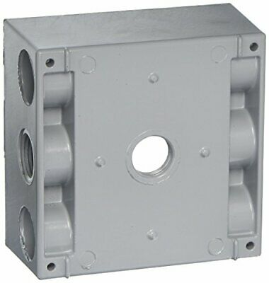 Greenfield B232ps Series Weatherproof Electrical Outlet Box Gray