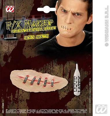 Movie Effect Sewn Mouth Make Up Scar Halloween Saw Fancy - Sewn Up Mouth Halloween