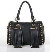 New Black Leather Shoulder Bag