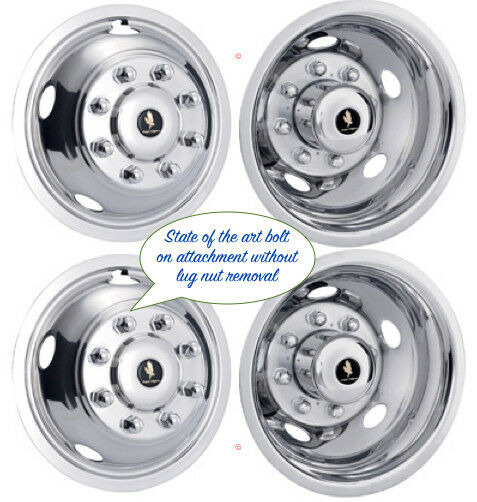 "19.5"" FORD F53 8 LUG 99-2002 WHEEL SIMULATOR RIM LINER HUBCAP COVERS SET OF 4 ©"
