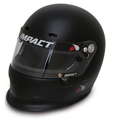IMPACT CHARGER HELMET NEW SNELL 2015 FLAT BLACK X LARGE