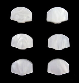 WHITE PEARLOID TUNER BUTTONS~GROVER FIT~AS NEW.
