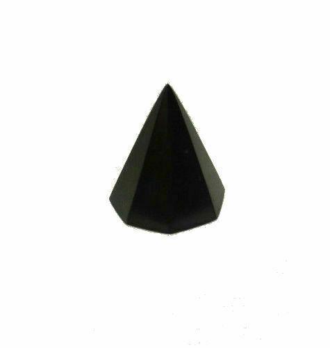 Shungite High pyramid UNpolished 30 mm eight sides