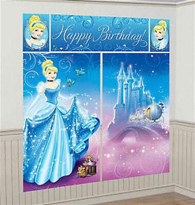 Cinderella Scene Setter (PRINCESS CINDERELLA Scene Setter HAPPY BIRTHDAY party wall decoration kit)