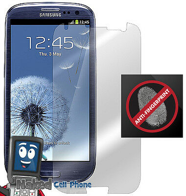 2 Anti-glare Fingerprint Lcd Screen Protector For Samsung Galaxy-s 3 Iii on sale