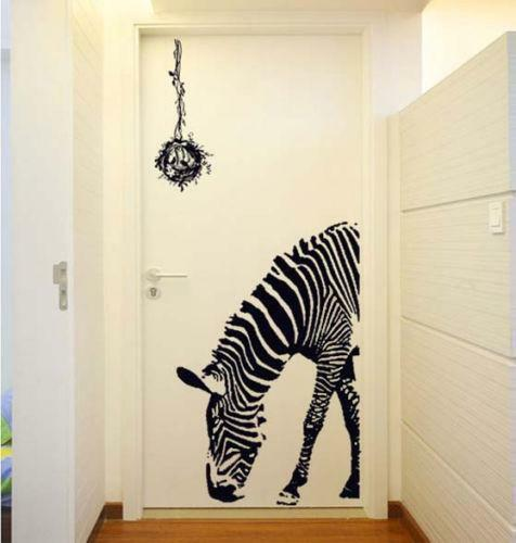 Zebra bedroom decor ebay for Room decor zebra print
