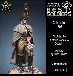 Best Soldiers French Napoleonic Cuirassier 75mm Model Unpainted Metal Kit