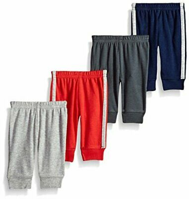 Baby Boys 4-Pack Pant, Gray/Blue/Red, Blue, Size 0.0 ERx0 - $13.99