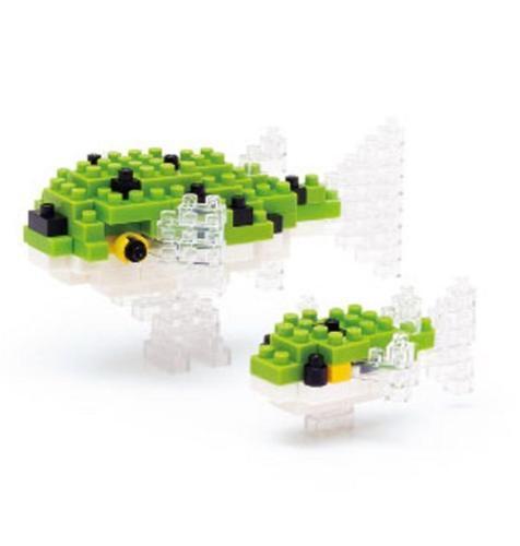 NANOBLOCK Green Spotted Puffer Fish Nano Block Micro-Sized Building Blocks 085