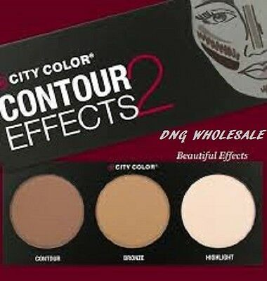 NEW!! CITY COLOR CONTOUR EFFECTS 2 BEST SELLER Contour Bronze Highlight Palette