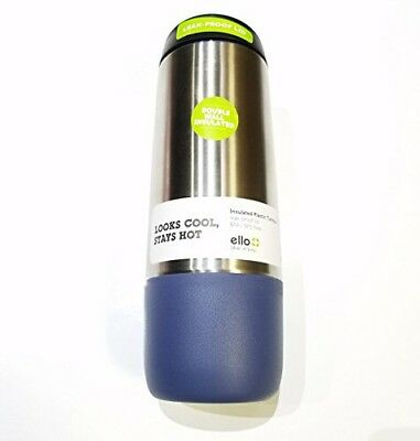 Two Pack 16 oz Insulated travel mug  Coffee Cup Stainless Steel and Navy
