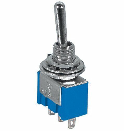 SPDT CENTER OFF MINIATURE TOGGLE SWITCH