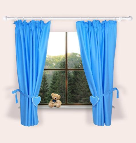 gardine blau wei ebay. Black Bedroom Furniture Sets. Home Design Ideas