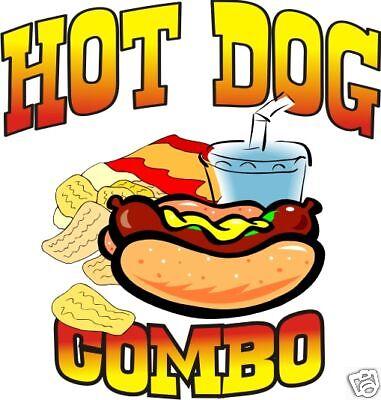 Hot Dog Combo Restaurant Concession Cart Food Vinyl Sticker Decal 14