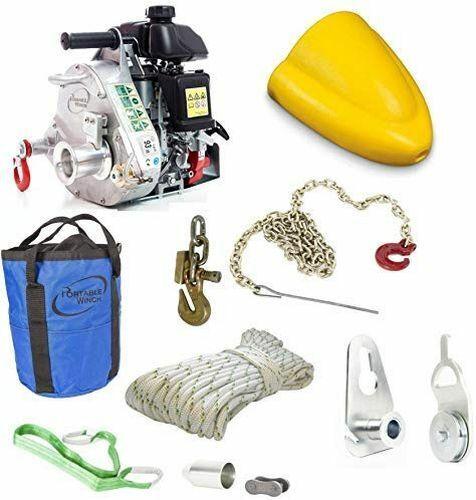 Portable Pulling Capstan Winch PCW5000 w/ PCA-1290-K Skidding Cone Kit (Bundle)