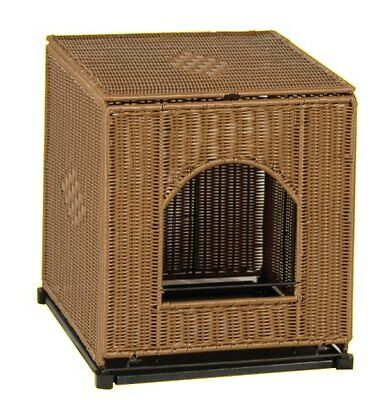 Mr.Herzher's Decorative Wicker Cat Litter Box Pan Cover 2 sizes available  ()